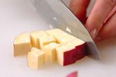 芋の豆乳みそ汁の下準備1