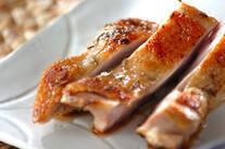 鶏もも肉のフライパンハーブ焼き