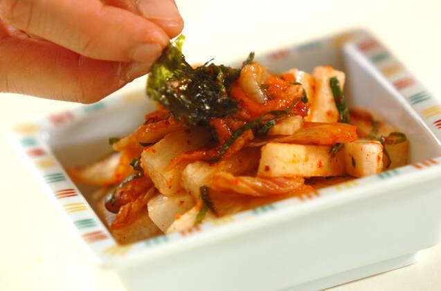 長芋のキムチ和えの作り方の手順4