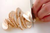 白菜のカラシ和えの下準備2
