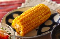 トウモロコシの甘辛焼き