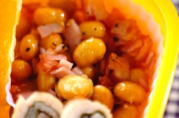 ハムと大豆のソテー