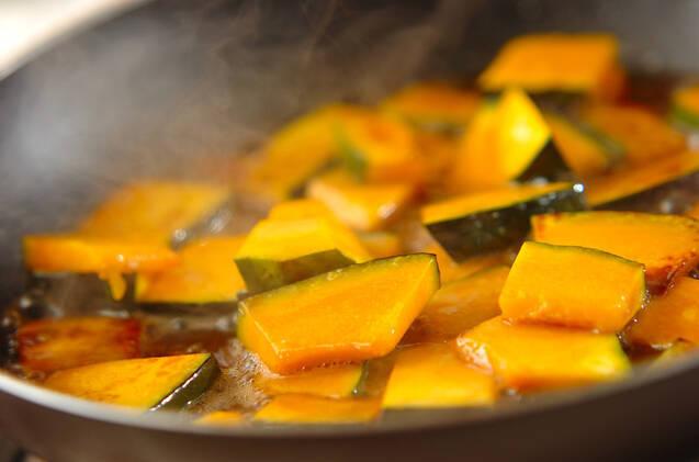 カボチャのタラコバター炒めの作り方の手順2