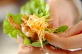 豚バラ肉サンチュ巻きの作り方3