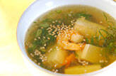 エビと豆腐のスープ