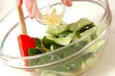 たたきキュウリの酢の物の作り方4