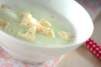 ソラ豆の豆乳スープ