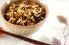 キノコのみそ風味炊き込みご飯の作り方の手順