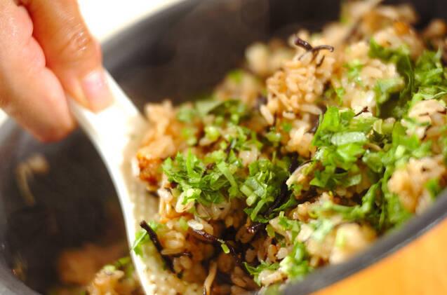 キノコのみそ風味炊き込みご飯の作り方の手順9
