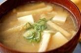 豆腐と油揚げのみそ汁