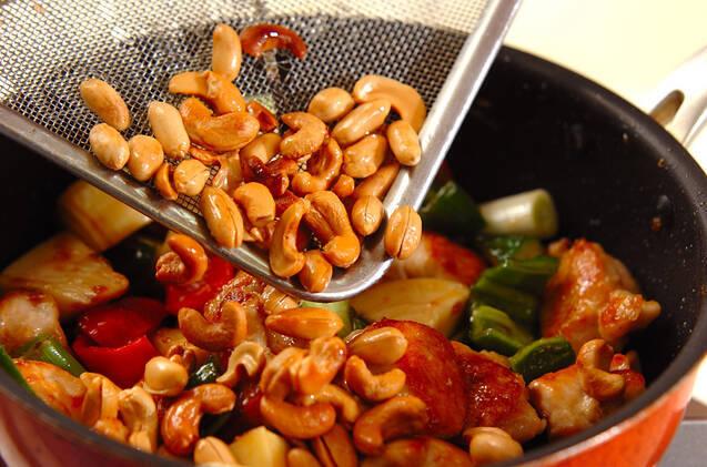 鶏むね肉のナッツ炒めの作り方の手順7