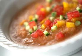 夏野菜のカラフルガスパチョ