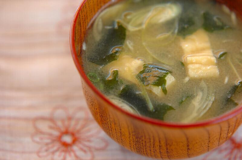 ミョウガの味噌汁