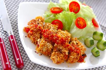 鶏肉のフレーク焼き