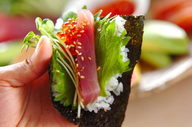 手巻き寿司の作り方の手順12