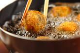 ヒジキコロッケの豆腐クリーム添えの作り方4
