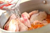 大根と手羽のキムチ煮の作り方1