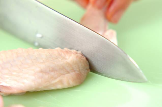 大根と手羽のキムチ煮の作り方の手順2