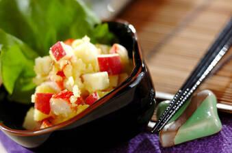 サツマイモとカニカマのサラダ