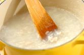 中華風おかゆの作り方1
