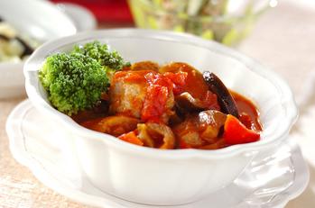 マグロと野菜のトマト煮