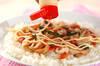 カニカマ丼の作り方の手順5