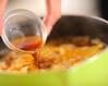 もずくとトマトのサンラーきしめんの作り方の手順4