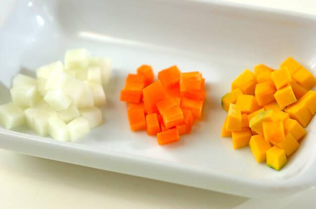 野菜のおじやの作り方の手順1