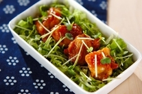 ママレードチキンのサラダ