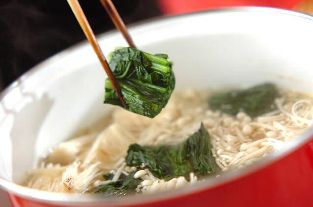 ホウレン草のかき玉汁の作り方の手順4