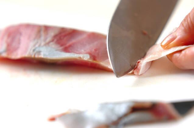 ハマチの照焼き混ぜご飯の作り方の手順1