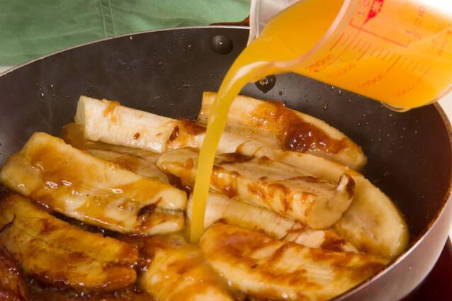 ホットバナナ・アイス添えの作り方の手順4
