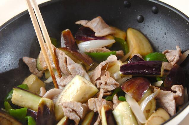 ナスと豚肉の炒め物の作り方の手順6