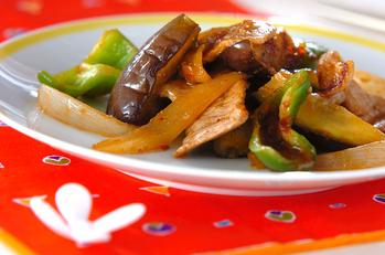 ナスと豚肉の炒め物
