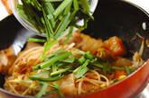 豚肉とアサリのカクテキ丼の作り方5
