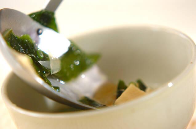 高野豆腐のみそ汁の作り方の手順5