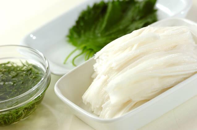 長芋の梅ダレがけの作り方の手順1