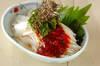 長芋の梅ダレがけの作り方の手順