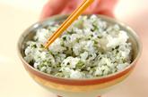 アオサとジャコの混ぜご飯の作り方1
