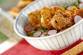 カレー風味のレバーカツ丼