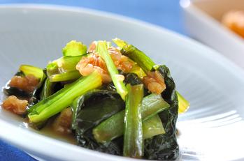 小松菜のラー油炒め