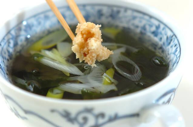 ネギワカメスープの作り方の手順3