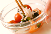 カニカマとプチトマトの酢の物の作り方3