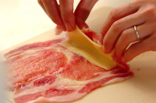 チーズ入りロールトンカツの作り方の手順6