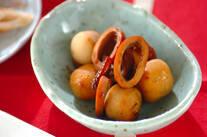 イカ缶と冷凍里芋の煮物