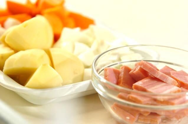 トマトチーズポトフの作り方の手順1