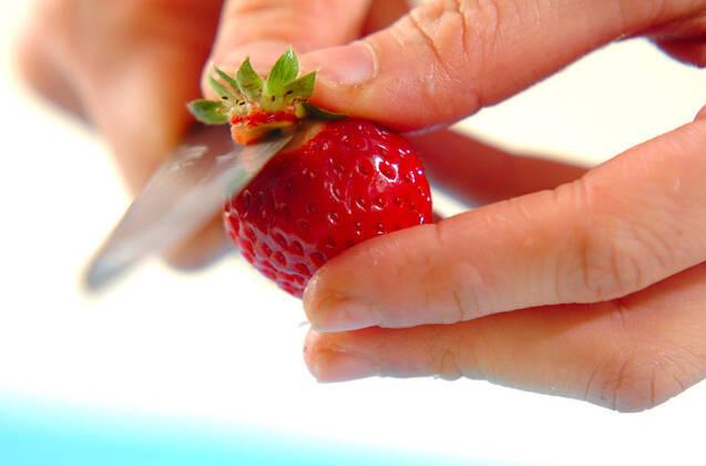 イチゴのキルシュ風味の作り方の手順1