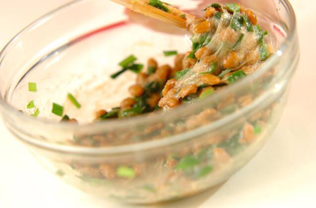 ニラ明太納豆の作り方の手順5