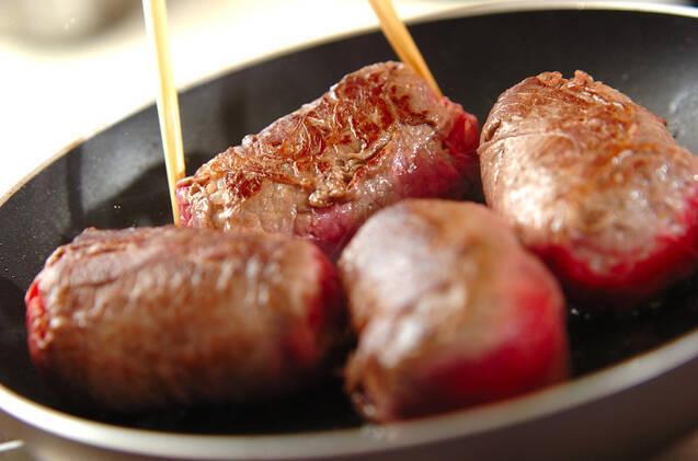 牛肉の大葉巻きにぎりの作り方の手順5
