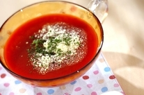 冷製トマトスープ